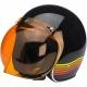 Motorradbrille -BUBBLE- BILTWELL - orange